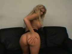 Blonde MILF masturbates on...