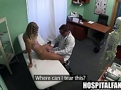 Sexy blonde patient gets...